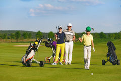 Family playing golf Royalty Free Stock Images
