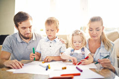 Family playing Stock Image