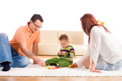 Family playing at home Stock Image