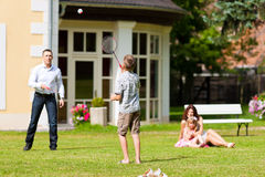 Family is playing in summer Royalty Free Stock Photography