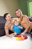 Family  playing together. Royalty Free Stock Photo