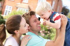 Free Family Playing Together In Garden At Home Stock Image - 15588841