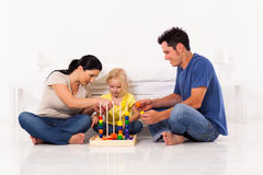 Family playing toy Royalty Free Stock Photo