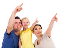 Family pointing Stock Photos