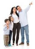 Family pointing somewhere Stock Photos