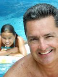 Family pool. Royalty Free Stock Photos