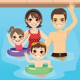 Family Pool Stock Photo