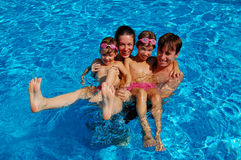 Family pool fun Royalty Free Stock Images