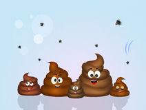 Family of poop Royalty Free Stock Images