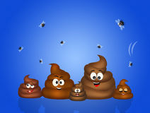 Family of poop Stock Photography