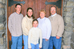 Family portrait #1. Family portrait with son daughter and daughter mom and dad royalty free stock photography