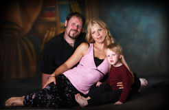 Family Portrait. Mother, father and son royalty free stock photo