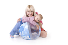 Family portrait. Studio family portrait of mother and child Royalty Free Stock Images