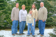 Family portrait #2. Family portrait with son daughter and daughter mom and dad Stock Image