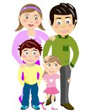 Happy Family Portrait. Illustration of a portrait of a happy family. Eps file is available Royalty Free Stock Photos