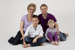 Family portrait. Happy family portrait at the studio Royalty Free Stock Photo