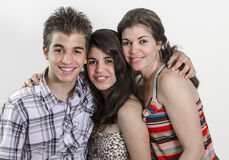 Family Portrait. Portrait of a Latin family smiling Royalty Free Stock Photography
