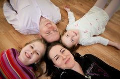 Family portrait from above Royalty Free Stock Photos