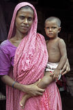 Family Portrait of Bangladeshi mother and child Royalty Free Stock Photography