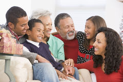 Family Portrait At Christmas Royalty Free Stock Photo