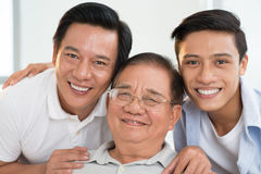Family portrait. Closeup portrait of a male family looking at camera Stock Image