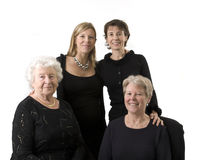Family portrait compose of 4 women Royalty Free Stock Photography