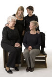 Family portrait compose of 4 women royalty free stock photo