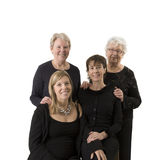 Family portrait compose of 4 women stock photos