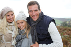 Family portrait in countryside Stock Photo