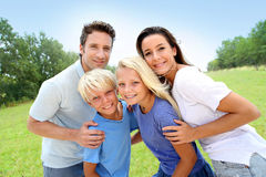 Family portrait in countryside Royalty Free Stock Photography