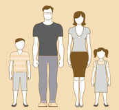 Family. Portrait couple with two children boy and girl Royalty Free Stock Photos