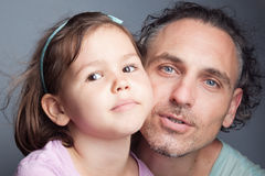 Family portrait, father and daughter Royalty Free Stock Image