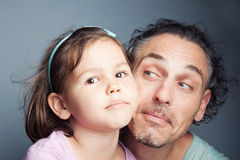 Family portrait, father and daughter Stock Photo
