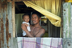 Family portrait of Filipino father and child. Stock Photography