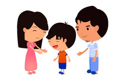 Family portrait. Happy Family. Eps10 Illustration royalty free illustration