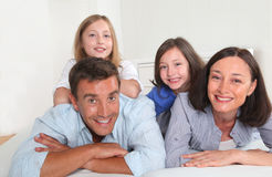 Family portrait at home Stock Image