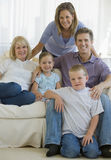 Family portrait indoors Stock Photos