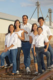 Family Portrait in an industrial location Stock Photography