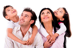 Family portrait looking up Royalty Free Stock Photography