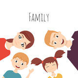 Family portrait: mom, dad, daughter and son. Royalty Free Stock Photo