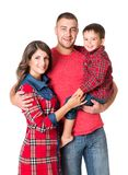 Family Portrait, Mother Father Child, Happy Parents and Kid Son stock photography