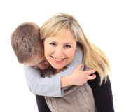 Family portrait of mother and son Royalty Free Stock Photos