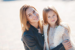 Family portrait of mothers and daughters Stock Image