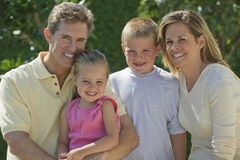 Family portrait outdoors Stock Photography