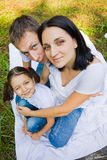 Family portrait in a park. wide-angle Stock Images
