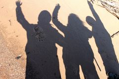 Family portrait in shadow Stock Image