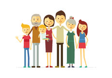 Family portrait at the simple style Stock Photography