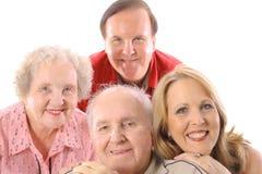 Family portrait upclose. Isolated on white Royalty Free Stock Photo