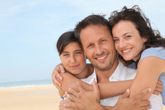 Family portrait in vacation Stock Photography