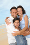 Family portrait in vacation Stock Images